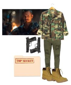 """""""☾; how to dress like Rick Flag"""" by fandom-squad ❤ liked on Polyvore featuring Smith & Wesson and ricksets"""