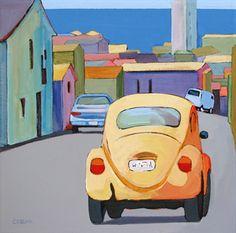 """""""Urban Ocean View,"""" painting by Carolee Clark"""