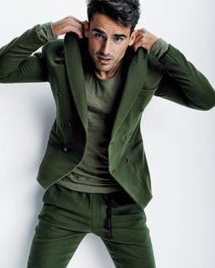 Men style in dark green