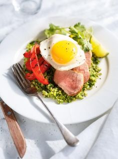 Ricardo's recipe: Broccoli Tabbouleh with Grilled Bell Peppers and Pork Tenderloin