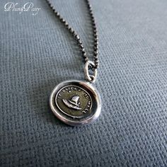 Guiding Star Wax Seal Necklace - Cupid Wax Seal Charm Sailing Boat and North Star - It Guides me well