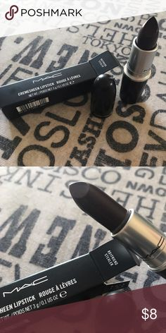 Limited Edition MAC Lipstick MAC creamsheen lipstick in 'boyfriend stealer' (dark purple). Brand new in box MAC Cosmetics Makeup Lipstick