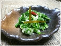 【農家のレシピ】水菜(壬生菜)の浅漬け