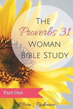 The Proverbs 31 Woman is the ideal for every godly woman.This study of the Proverbs 31 Woman will help you in your own pursuit to be a Proverbs 31 Woman.