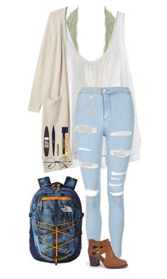 """""""""""We're driving just to get out, a perfect disaster, we were swingin swingin from the rafters"""" 😎😊💖"""" by one-of-those-nights ❤ liked on Polyvore featuring Charlotte Russe, Calypso St. Barth, Monki, Topshop, The North Face, Soda, Maybelline, Burt's Bees and Gorjana"""