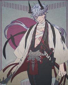Character Creation, Character Concept, Character Art, Concept Art, Fantasy Characters, Anime Characters, Oc Manga, Arte Obscura, Samurai Art