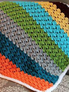 Crochet For Children: Crochet Blanket using the Blanket Stitch