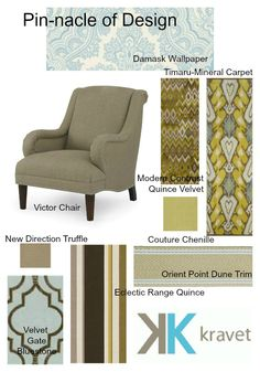 Chic and sophisticated contest board from Mindy Miles at Encore Decor. Click through to see the items she pinned: http://pinterest.com/MindyMiles/kravet-pin-nacle-of-design/