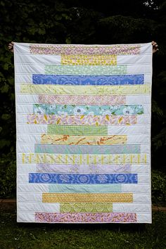 Stacked Strips Quilt.  So pretty