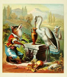 The Fox and the Stork  Aesops fables, McLoughlin Brothers [ca. 1880].