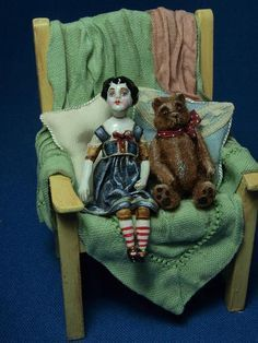 .Doll and bear