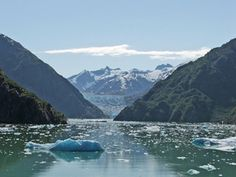 Alaskan Christian Cruise Pictures: Sawyer Glacier at a Distance