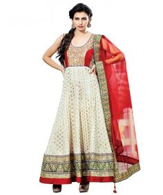 Red & White Designer Embroidered Chanderi Semi Stiched Salwar Suit-VSVON-1101-B  www.mastimall.com  #MastiMall.com#MastiMall#Semi Stitched Dress#Dress Material#Cotton Suits #Designer Salwar Kameez#Party Wear Dress#Ethnic Wear#Clothing #Anarkali Dress  #Patiala  #Patiyala  #Churidar