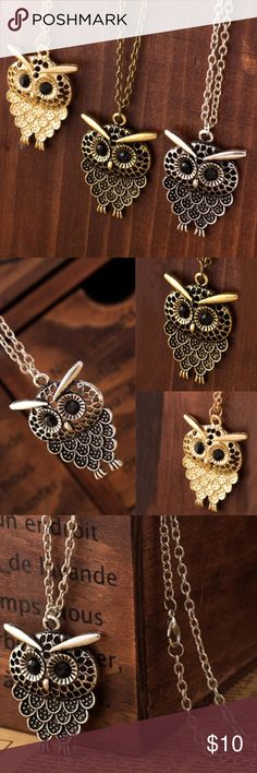 ✨❗️1-Hour Sale❗️Owl Pendant Necklace Owl pendant long chain necklace.  *Not charming charlie Charming Charlie Jewelry Necklaces