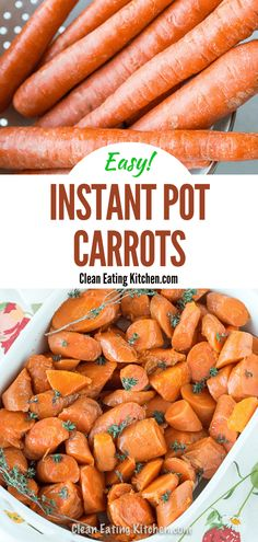 This recipe for Instant Pot Carrots is so easy and delicious. It makes the perfect healthy side dish for a holiday or for an ordinary weeknight. #instantpot #carrots