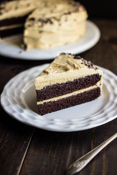 Chocolate Cake with Pumpkin Spice Frosting | gluten-free, dairy-free, refined sugar-free saltedplains.com