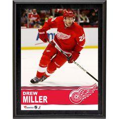"Drew Miller Detroit Red Wings Fanatics Authentic 10.5"" x 13"" Sublimated Plaque - $29.99"
