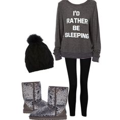 That sweater describes me so well...This outfit is so cute but would definitely wear different shoes