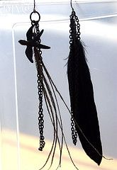 I like the unique qualities of the two earrings rather than matching. :] Might have to make this.