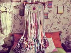 Hey, I found this really awesome Etsy listing at https://www.etsy.com/listing/452105114/colorful-boho-dreamcatcher-junk-gypsy