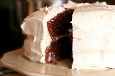 Jack and Coke Cake (chocolate cocoa cola cake with jack daniels buttercream