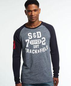Superdry T-shirt de baseball Trackster