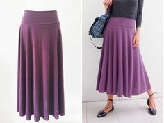 Hi everyone! I made this skirt in one Sunday afternoon using a lovely knit fabric I purchased at a clearance sale at Spotlight. There's no elastic in the waistline –…