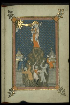 Image of Rothschild Canticles (f. 50r): Mary on Mount Sion.