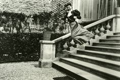 Some of Lartigue's amazing photos of motion: Bichonnade Leaping (Jacques-Henri's cousin), 1905 (i.e. taken when Lartique was 11!)