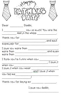 Love this!  Am going to have Emma fill it in with her own responses instead of doing it like a Mad Lib.