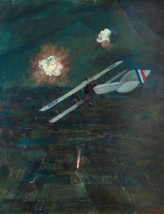 Night Raid, 1917 by Christopher Nevinson, 1920s.