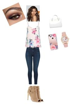"""""""Untitled #27"""" by rheana2005 on Polyvore featuring J Brand, Dorothy Perkins, Coleman, Valentino, Michael Kors and Casetify"""