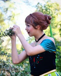"""These flowers look like the ones from Tokyo Ghoul!!!""  Please excuse the wig issues!  {#anna #annacosplay #frozen #frozencosplay #cosplay #cosplayer #princess #disney #disneyprincess #photoshoot #cosplaymakeup }"