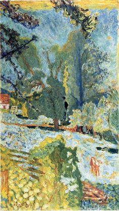""" Landscape in Normady, 1920, Pierre Bonnard Size: 100x60 cm Medium: oil on canvas"""