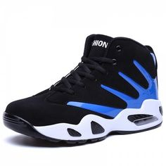 Air Cushioning Men Basketball Shoes Breathable Ankle Athletic Sneakers Basket Homme 2017 Non-slip Training Boots Jordan Shoes Blue Shoes, Men's Shoes, Shoes 2017, Shoes Men, Shoes Sneakers, Men Boots, Shoes Style, Converse Shoes, Adidas Shoes