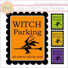 witch parking printable
