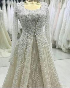 144 Likes, 6 Comments - реклама для салонов ( - wedding-dress. Silver Wedding Gowns, Indian Wedding Outfits, Bridal Outfits, Indian Outfits, Bridal Dresses, Bridal Hijab, Eid Outfits, Indian Clothes, Shadi Dresses