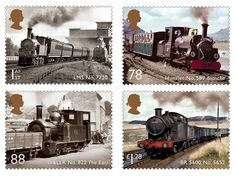 locomotives british stamps - Google Search
