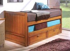 camas nido compactas marron azul