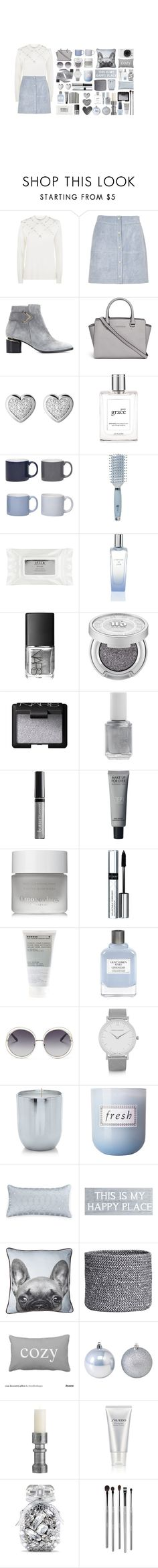 """winter wonderland"" by julia463 ❤ liked on Polyvore featuring 3.1 Phillip Lim, River Island, Nicholas Kirkwood, MICHAEL Michael Kors, Links of London, philosophy, Jansen+Co, WALL, Goody and Stila"