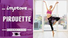 4 Exercises to Improve Pirouette Ballet Barre Workout, Ballerina Workout, Barre Moves, Pilates Barre, Dance Teacher, Dance Class, Ballet Class, Dance Tips, Dance Lessons