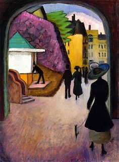 Mai-Abend in Stockholm Gabrielle Münter - 1916