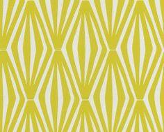 Tapete Denial col. 04 | Grafische Tapeten in den Farben Gelbgrün | Grundton Perlmutt 24,58 Euro / Rolle wallandimage.com