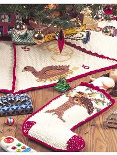 Twelve Days of Christmas Tree Skirt and Stocking