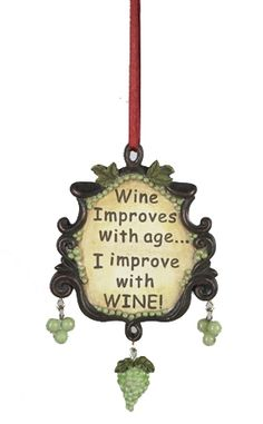wine improves with age i improve with wine ornament bottle stoppers glass