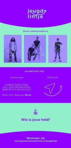 Brand Identity - Branding - Huisstijl voor Jeugdlintje van Gemeente Maastricht gemaakt door Studio Sowieso Branding, Brand Identity, Studio, Brand Management, Study