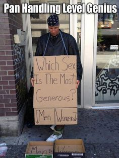 funny panhandler signs - Google Search
