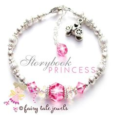 Kids Princess Jewelry Little Girls Princess Bracelet Gift for Birthday Girl Pink Bracelet