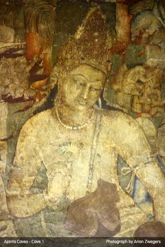 Ajantha Cave Painting of Avalokiteshwara. The Buddha of Compassion.