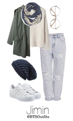 """""""Winter Date with Jimin"""" by btsoutfits ❤ liked on Polyvore featuring Phase 3, Pull&Bear, Isabel Marant, Steven Alan, Evelyn K and adidas Originals"""